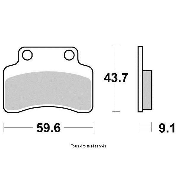 Plaquettes de frein S1996N