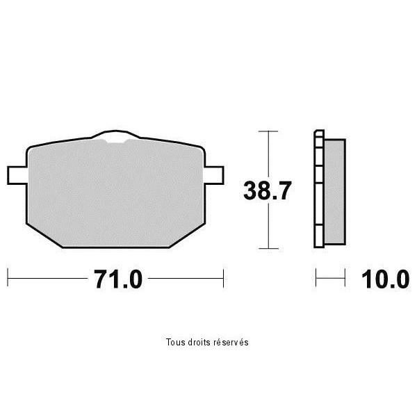 Plaquettes de frein S1088N