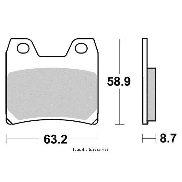 Plaquettes de frein S1268N