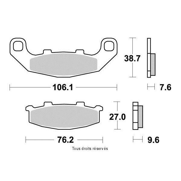 Plaquettes de frein S1015N