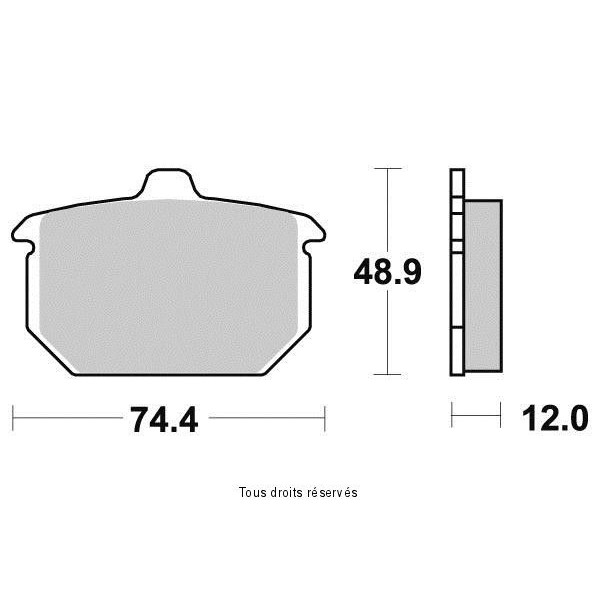 Plaquettes de frein S1022N