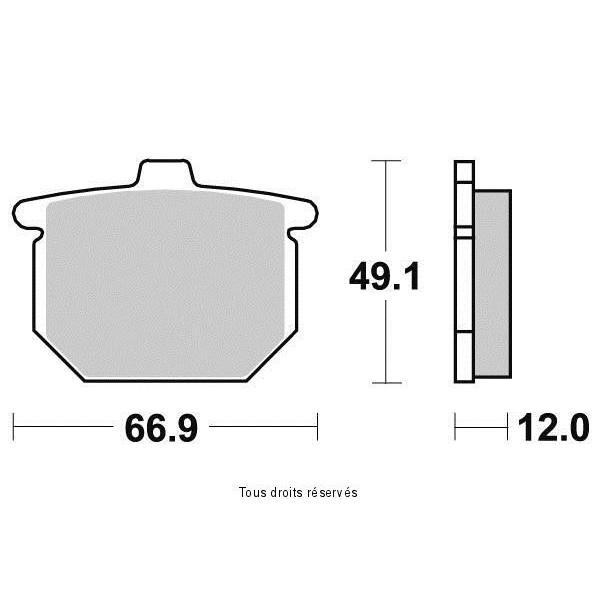 Plaquettes de frein S1027BN