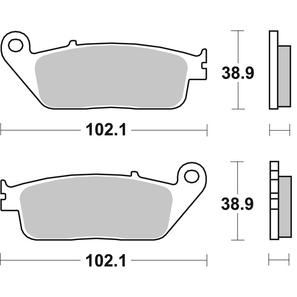 Plaquettes de frein 654 LF