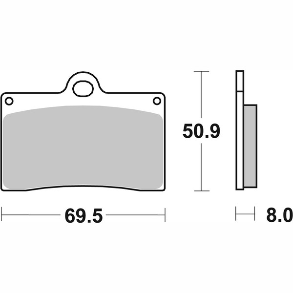 Plaquettes de frein 566 HF