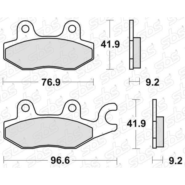 Plaquettes de frein 119 HF