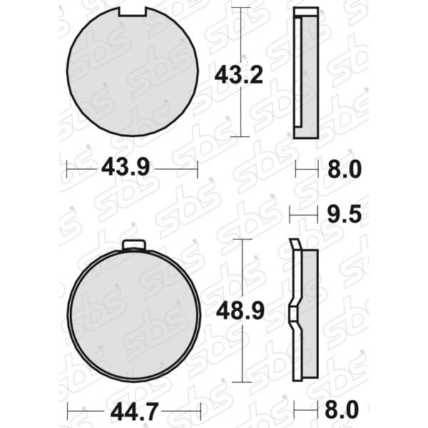 Plaquettes de frein 524 HF