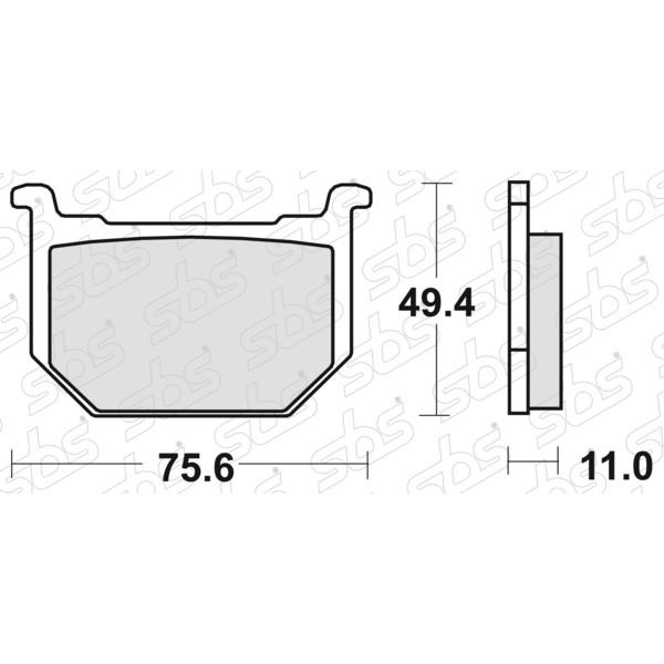 Plaquettes de frein 533 HF