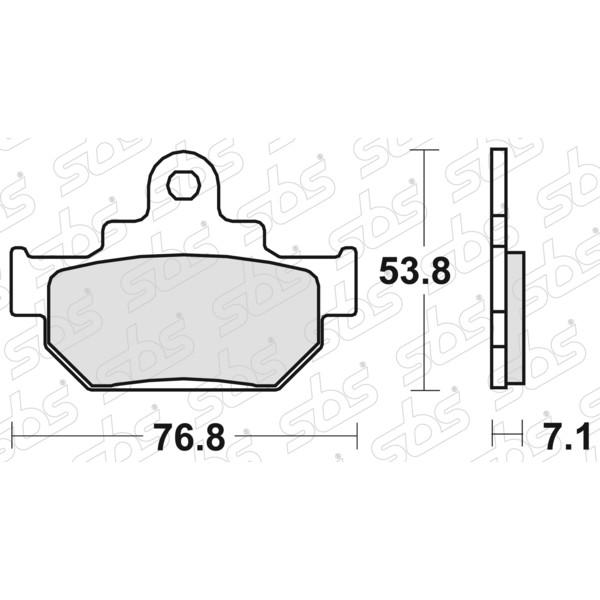 Plaquettes de frein 581 HF