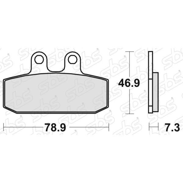 Plaquettes de frein 588 HF