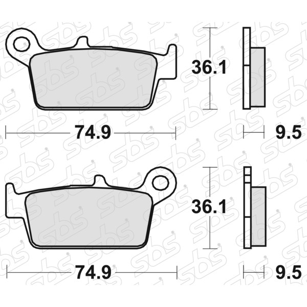 Plaquettes de frein 604 RSI