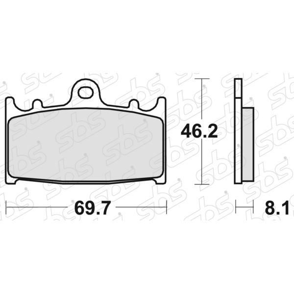 Plaquettes de frein 631 HF