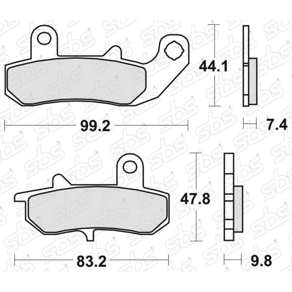 Plaquettes de frein 635 LS