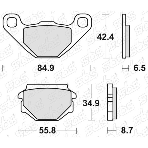 Plaquettes de frein 651 HF