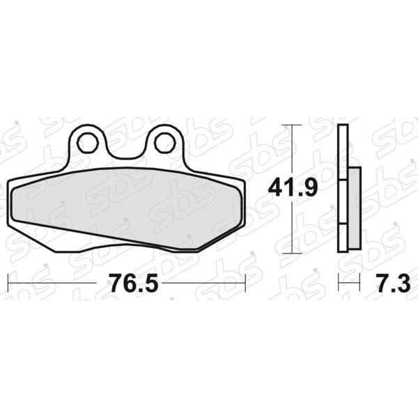 Plaquettes de frein 652 HF