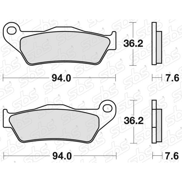 Plaquettes de frein 671 HF