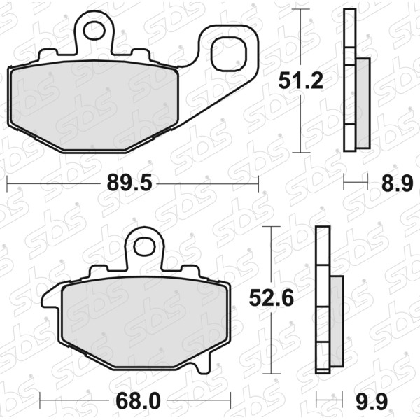 Plaquettes de frein 687 LS