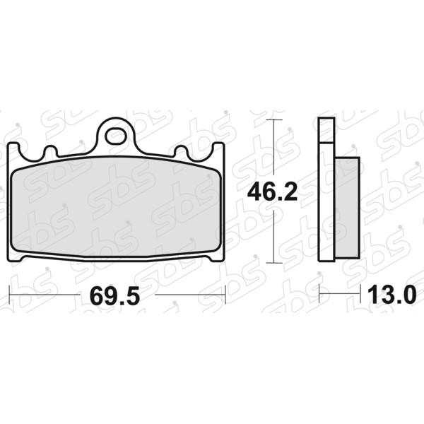 Plaquettes de frein 789 LS