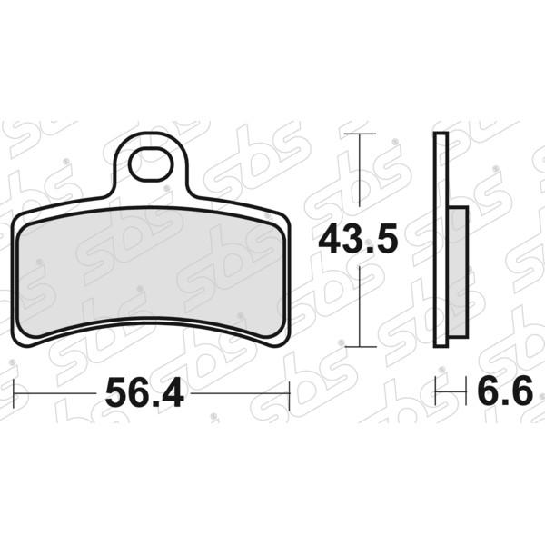 Plaquettes de frein 815 HF