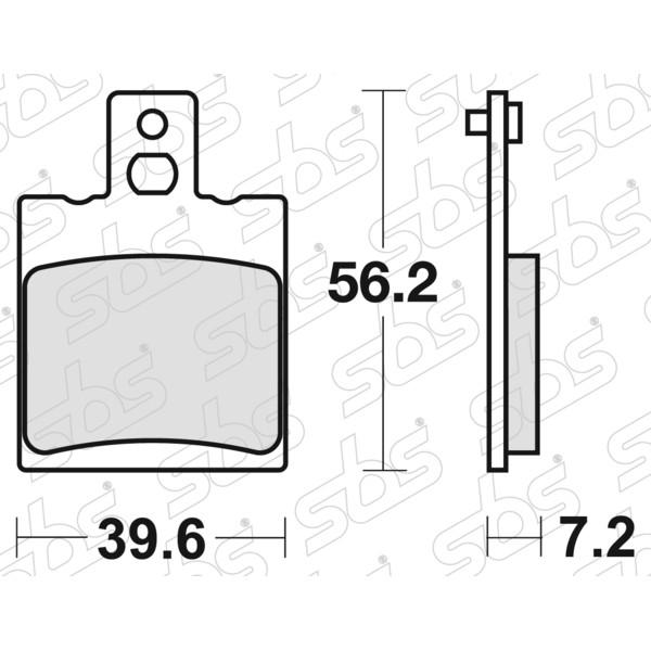 Plaquettes de frein 824 HF