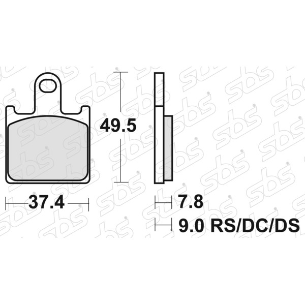 Plaquettes de frein 838 HS