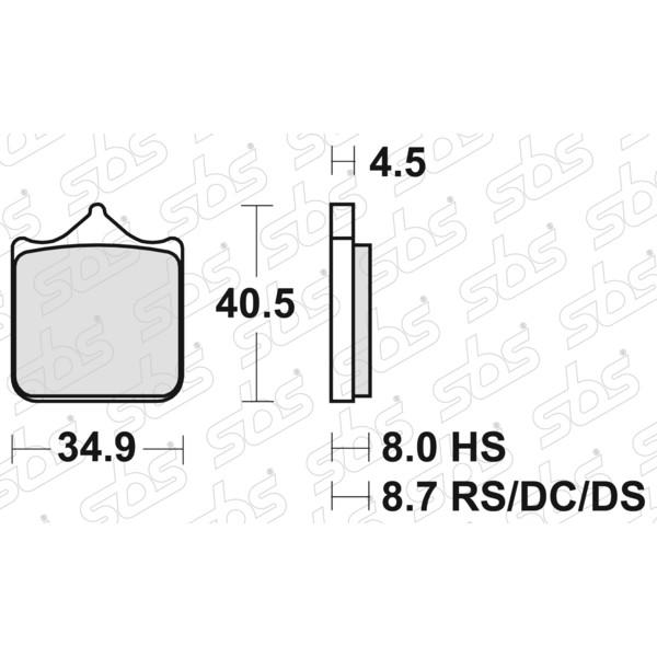 Plaquettes de frein 870 HS