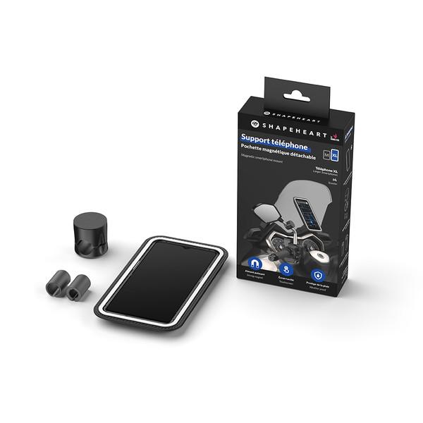 Support smartphone magnétique vissé pour rétroviseur