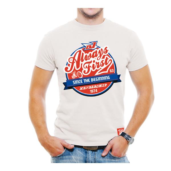 T-shirt Grease Blanc