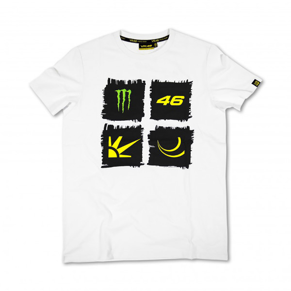 T-shirt White Monster