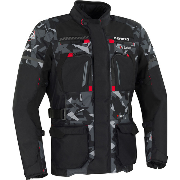 Veste Bering Boston Veste-moto-bering-boston-noir-camouflage-gris-1
