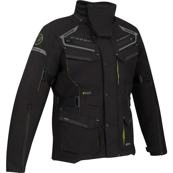 Veste laminé GoreTex Veste-moto-bering-minsk-gore-tex-noir-gris-jaune-fluo-1