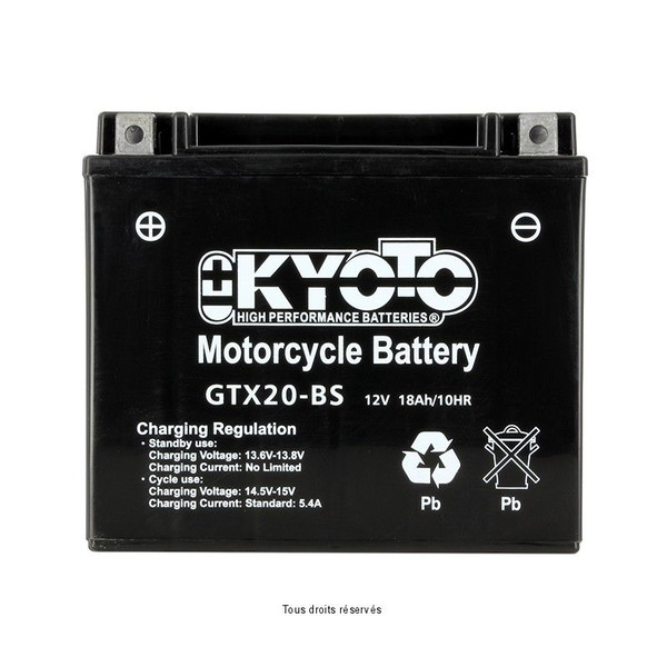 Batterie Ytx20-bs - Ss Entr. Acide