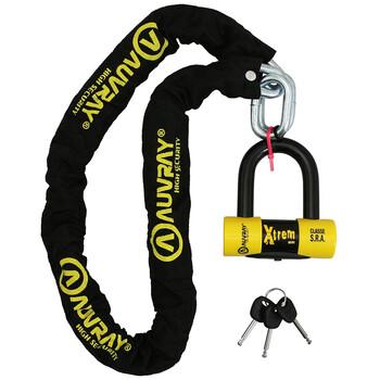 Chaîne X.Lock 120 + Bloque Disque Xtrem Mini Auvray