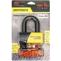 Antivol U Intouchable avec Cordon de rappel Kryptonite