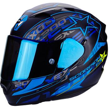 casque moto modulable bleu