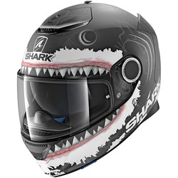 Casque Spartan Lorenzo White Shark Mat Replica Shark