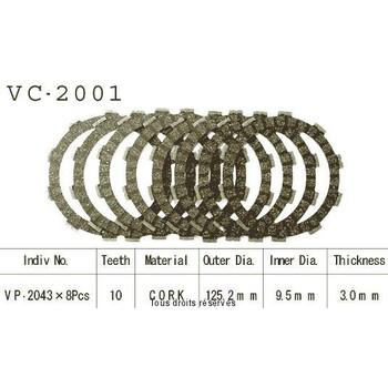 Disques garnis d'embrayage VC2001 Kyoto