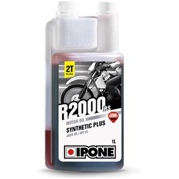 Huile moteur semi-synthétique R2000 RS 1L fraise - moto 2 temps Ipone