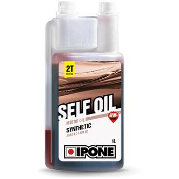Huile moteur semi-synthétique Self Oil 1L fraise - moto 2 temps Ipone