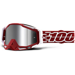 Masque Racecraft + Gustavia - Injected Silver Chrome Lens 100%