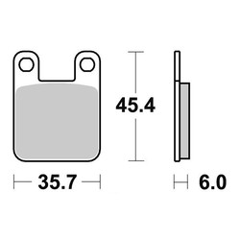Plaquettes de frein S1066N Sifam
