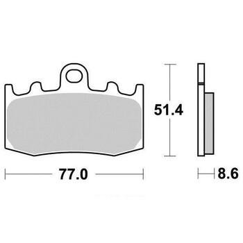 Plaquettes de frein S9000N Sifam