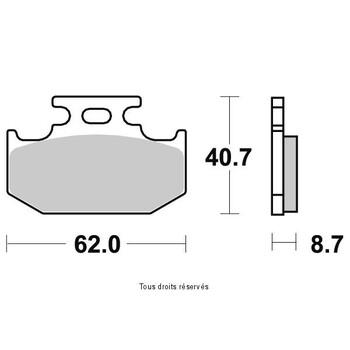 Plaquettes de frein S1037AN Sifam