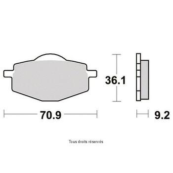 Plaquettes de frein S1081N Sifam