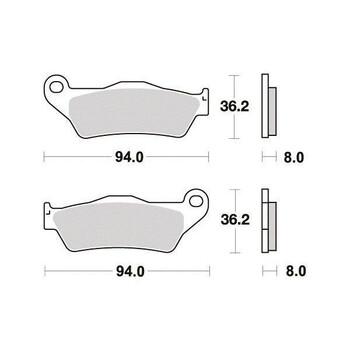 Plaquettes de frein S1082N Sifam