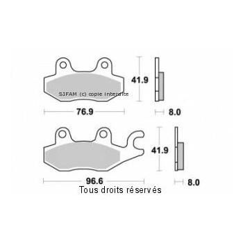 Plaquettes de frein S1085N Sifam