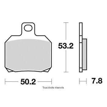 Plaquettes de frein S1110N Sifam