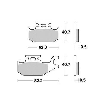 Plaquettes de frein S1266N Sifam