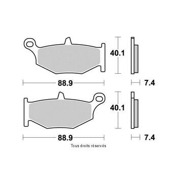 Plaquettes de frein S1359N Sifam