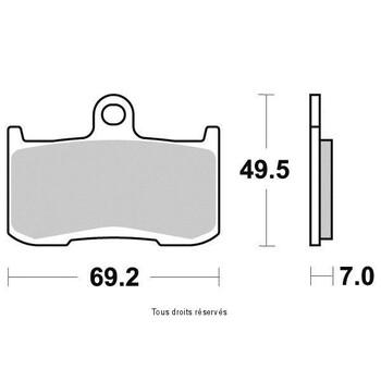 Plaquettes de frein S1443N Sifam