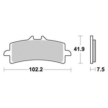 Plaquettes de frein S9100N Sifam